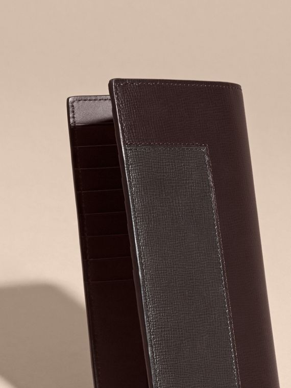 Wine Patchwork London Leather Continental Wallet Wine - cell image 3