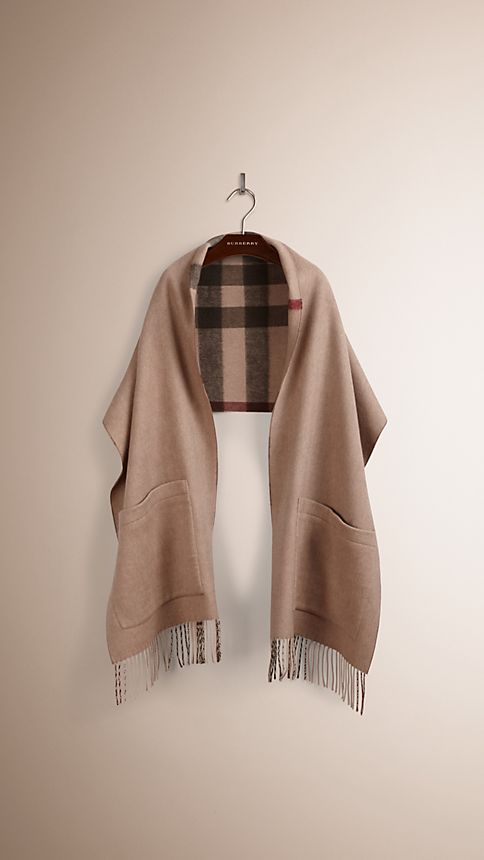 Smoked trench check Check Wool Cashmere Stole - Image 3