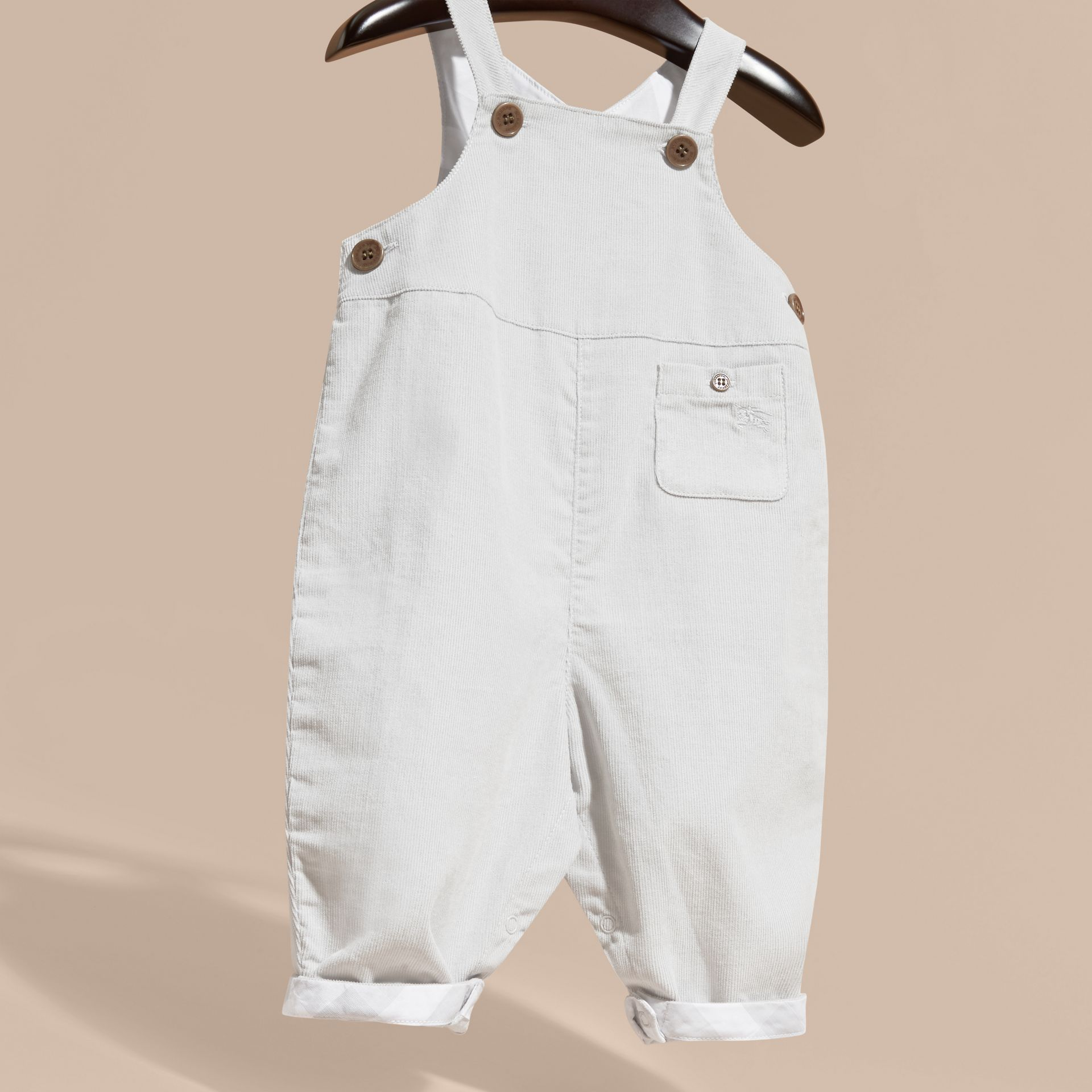 Mid grey Cotton Corduroy Dungarees - gallery image 3