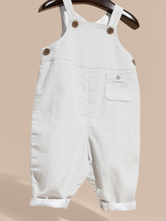 Mid grey Cotton Corduroy Dungarees - cell image 2