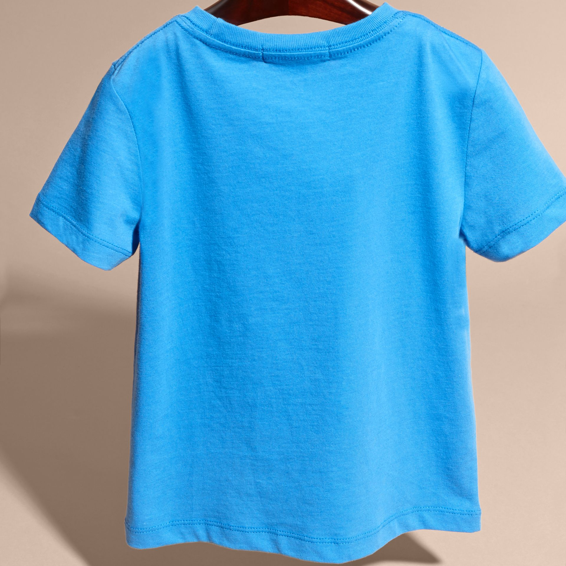 Chalk blue Crew Neck Cotton T-shirt Chalk Blue - gallery image 4