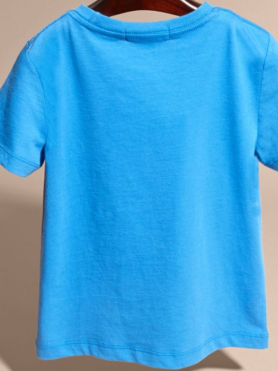 Chalk blue Crew Neck Cotton T-shirt Chalk Blue - cell image 3