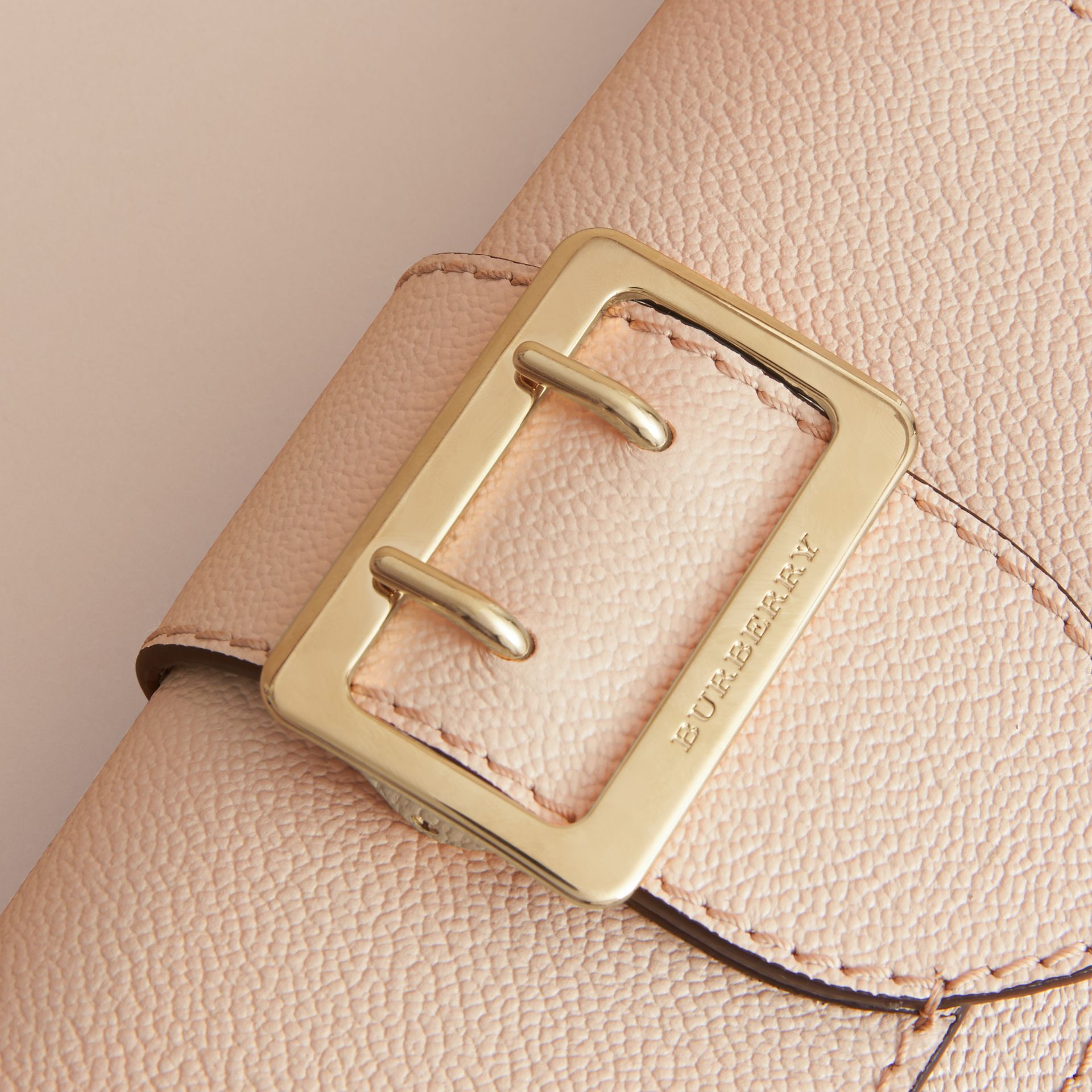 The Mini Buckle Bag in Grainy Leather in Limestone - Women | Burberry - gallery image 2
