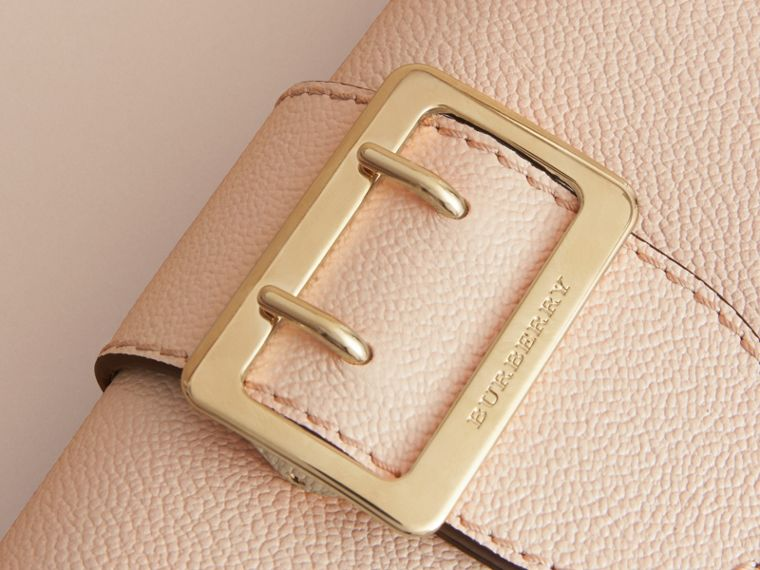 The Mini Buckle Bag in Grainy Leather in Limestone - Women | Burberry Australia - cell image 1