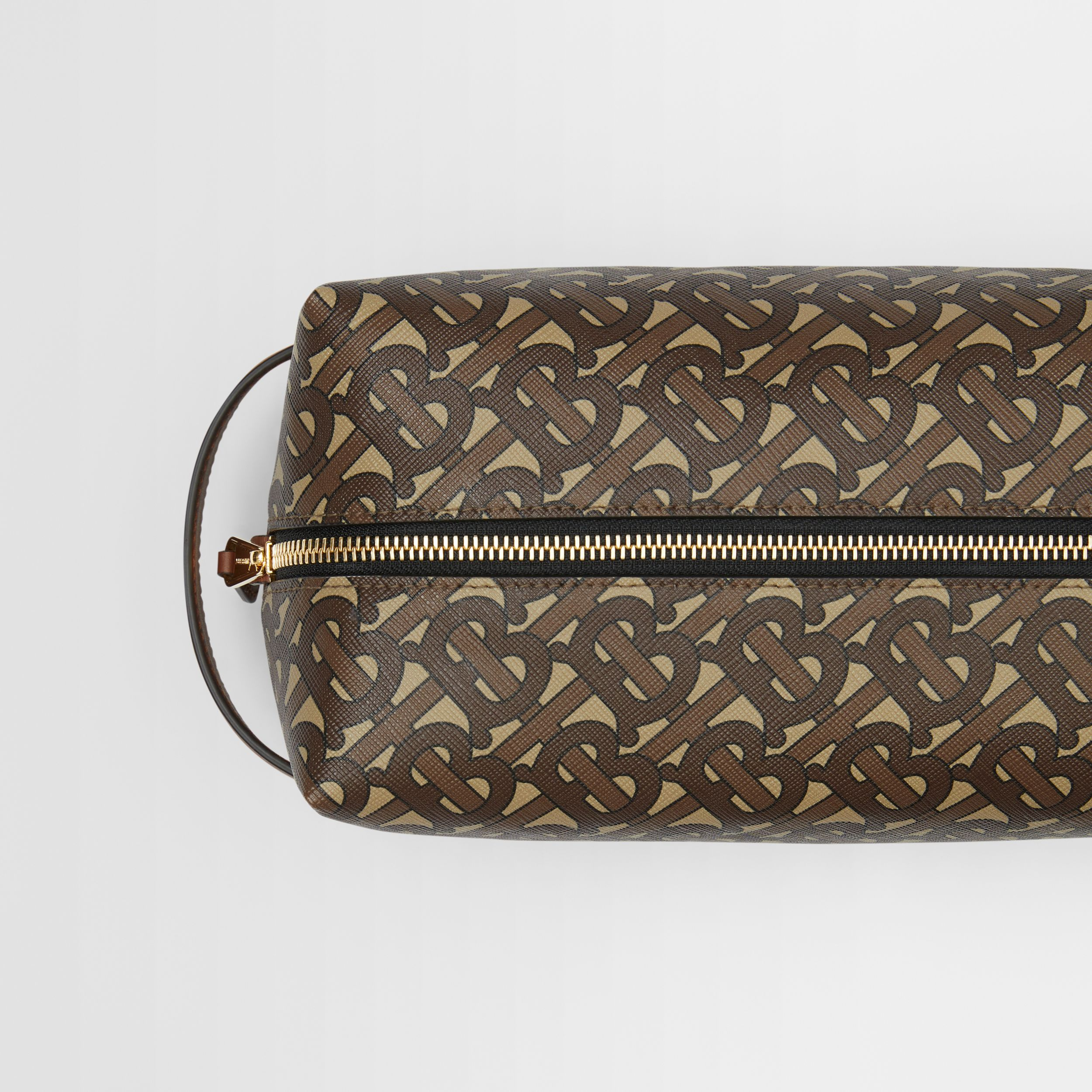 Monogram Print E-canvas Travel Pouch in Bridle Brown - Men | Burberry Singapore - 2
