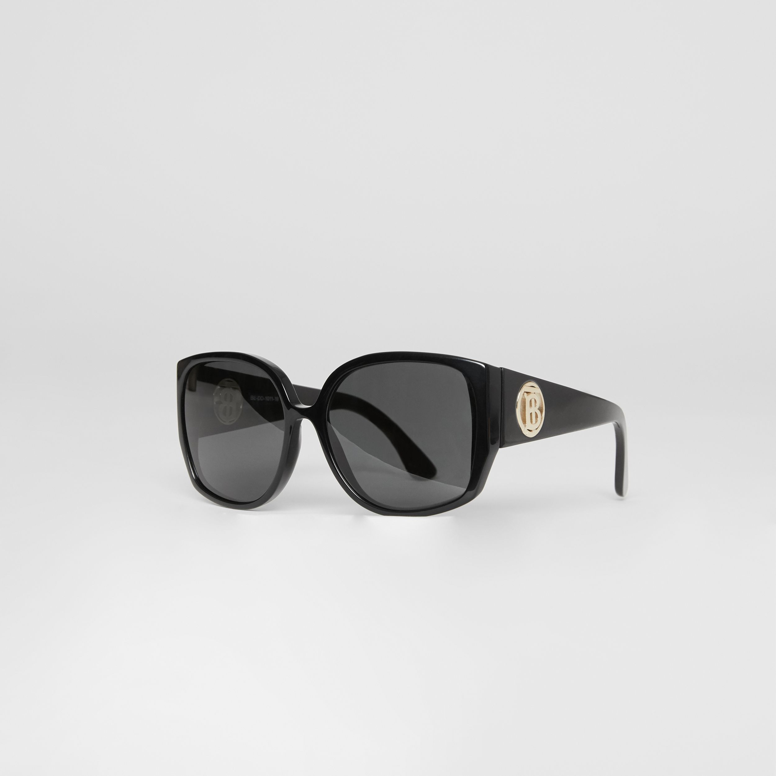 Oversized Butterfly Frame Sunglasses in Black - Women | Burberry - 3