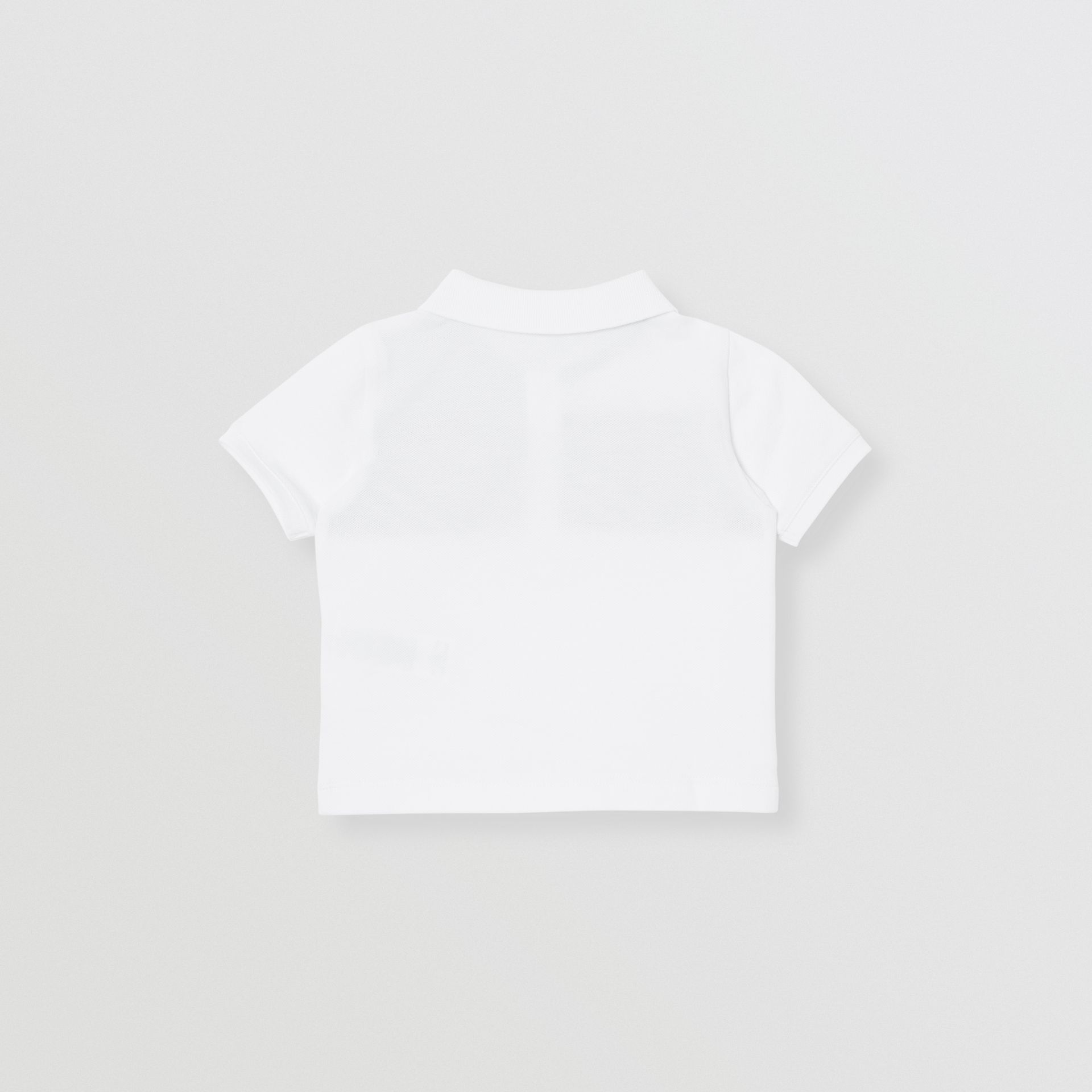 Vintage Check Panel Cotton Polo Shirt in White - Children | Burberry Canada - gallery image 3