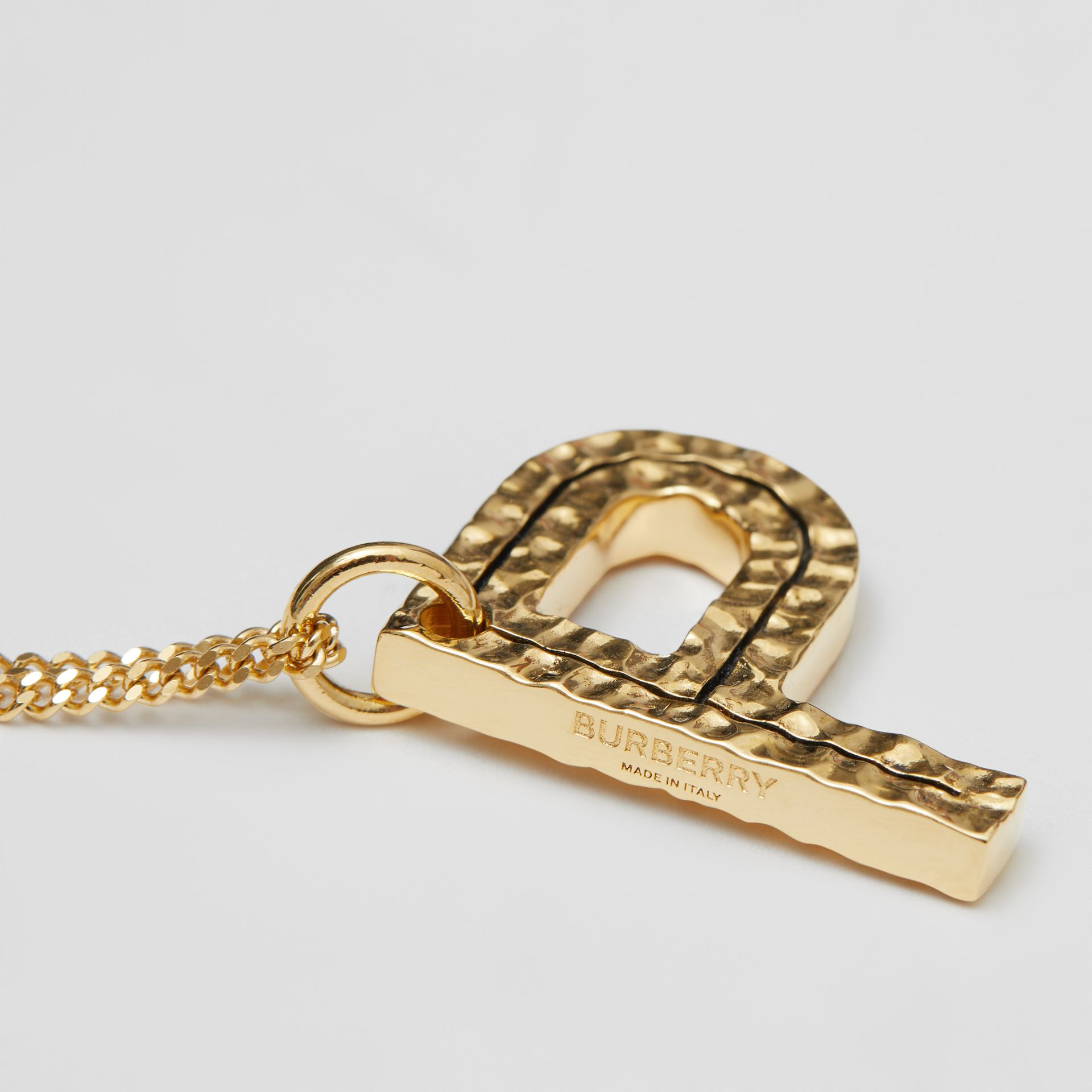 'P' Alphabet Charm Gold-plated Necklace in Light - Women | Burberry United Kingdom - gallery image 1