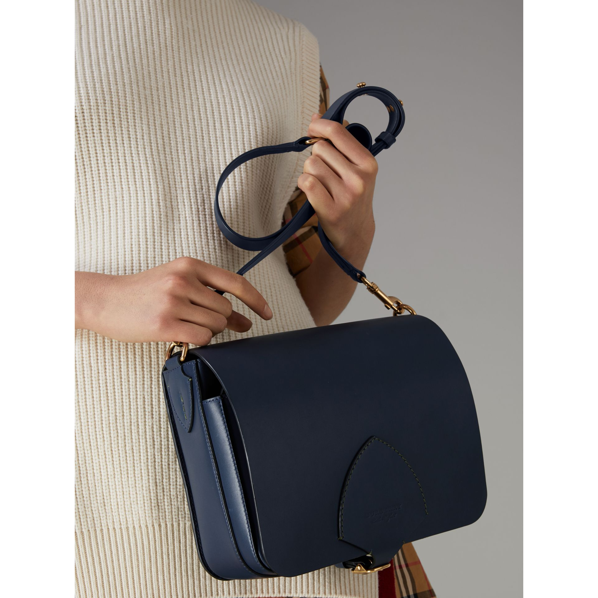 The Large Square Satchel aus Leder (Mittelindigo) - Damen | Burberry - Galerie-Bild 6