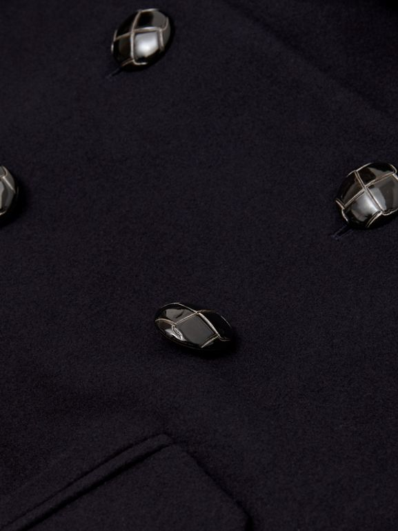Wool Tailored Pea Coat in Navy | Burberry Singapore - cell image 1