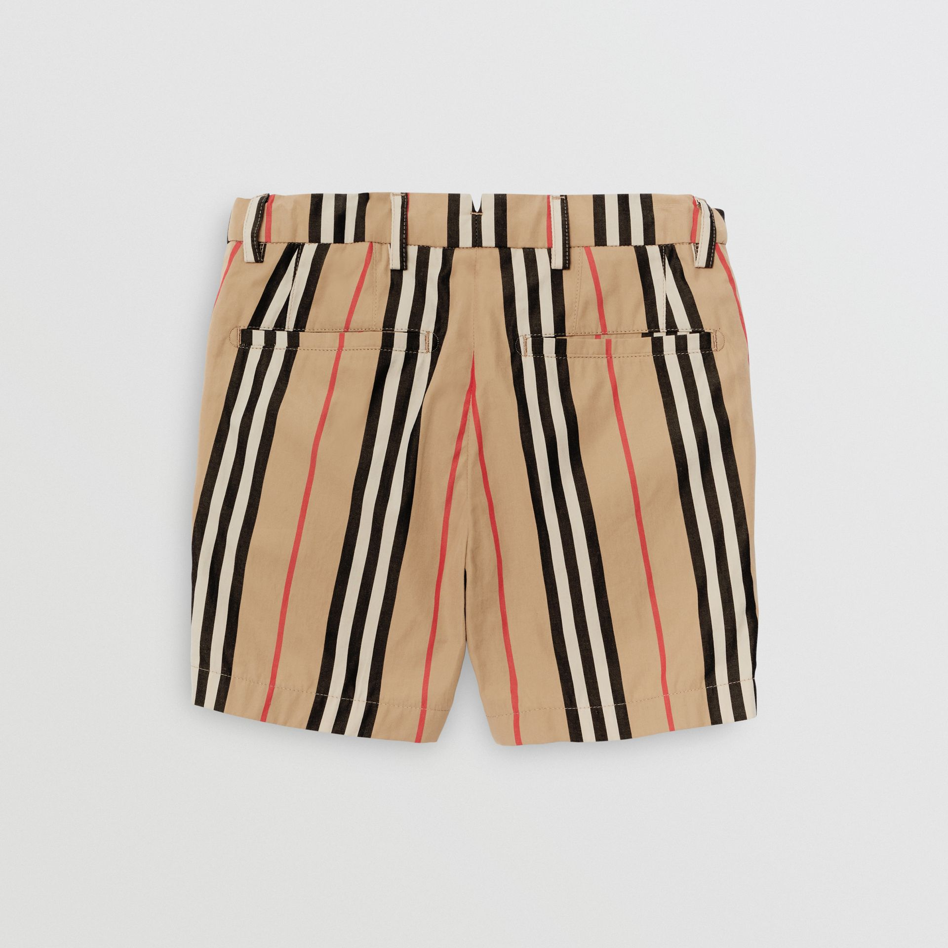 Icon Stripe Cotton Chino Shorts in Archive Beige | Burberry - gallery image 3