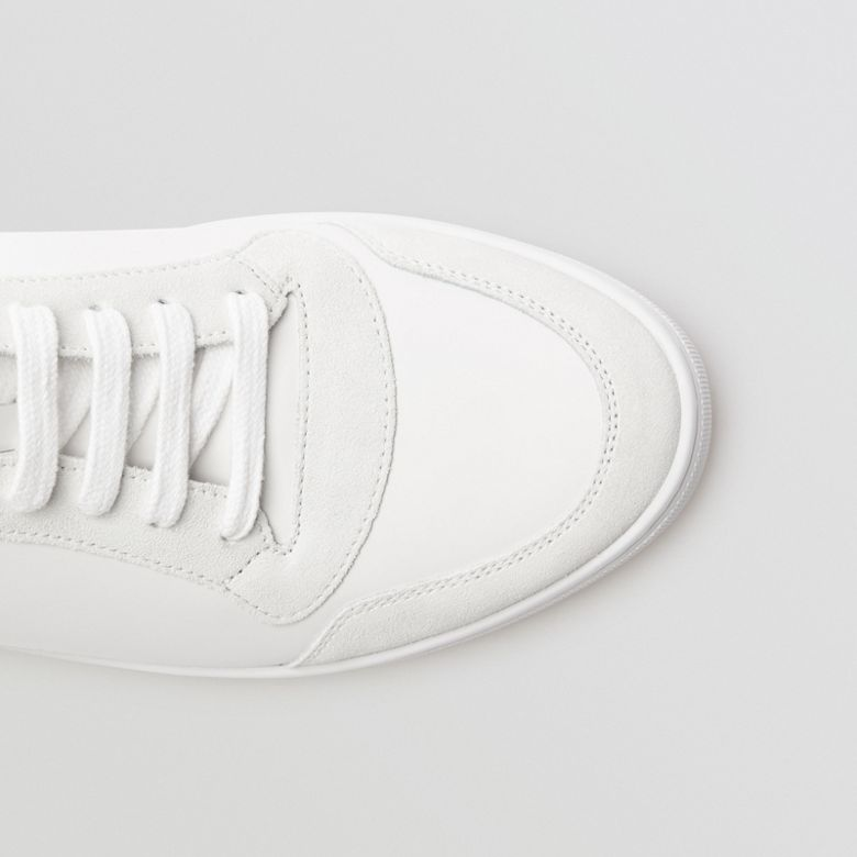 Burberry - Sneakers montantes en cuir et tissu House check - 2