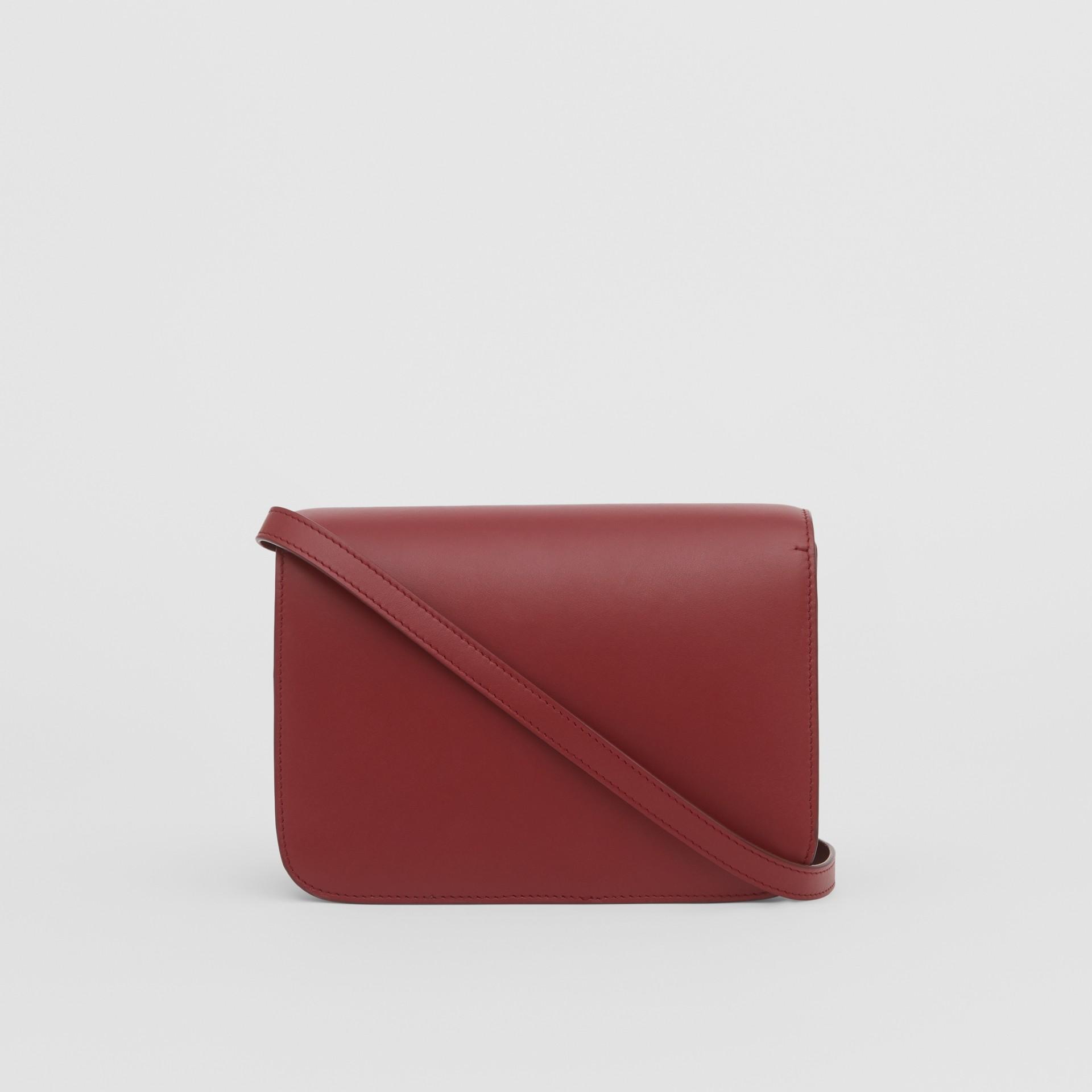 Small Leather TB Bag in Dark Crimson - Women   Burberry - gallery image 7