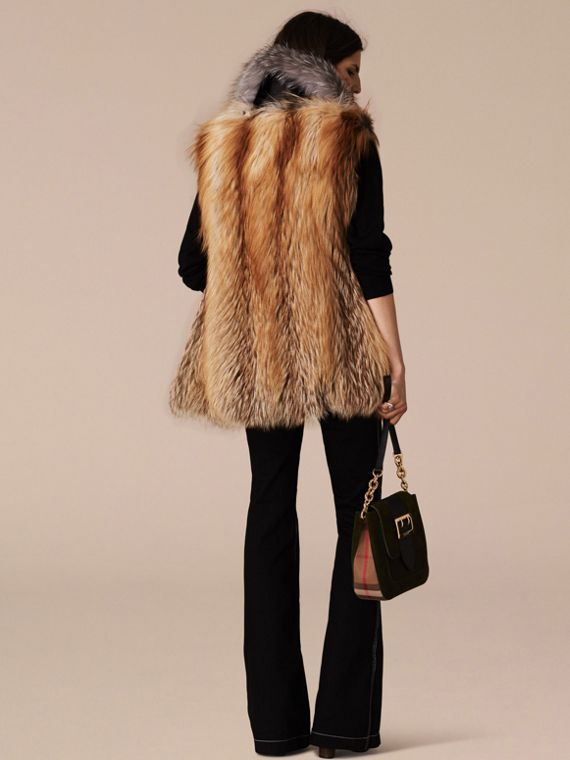 Bright toffee Fox Fur Gilet - cell image 2