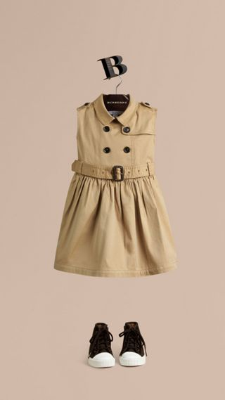 Stretch-cotton Trench Dress