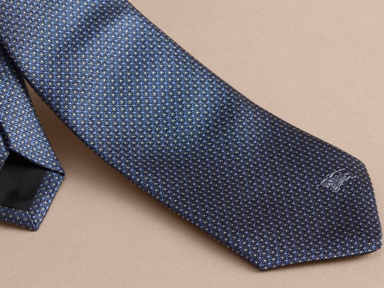 Modern Cut Patterned Silk Tie Light Blue - cell image 1