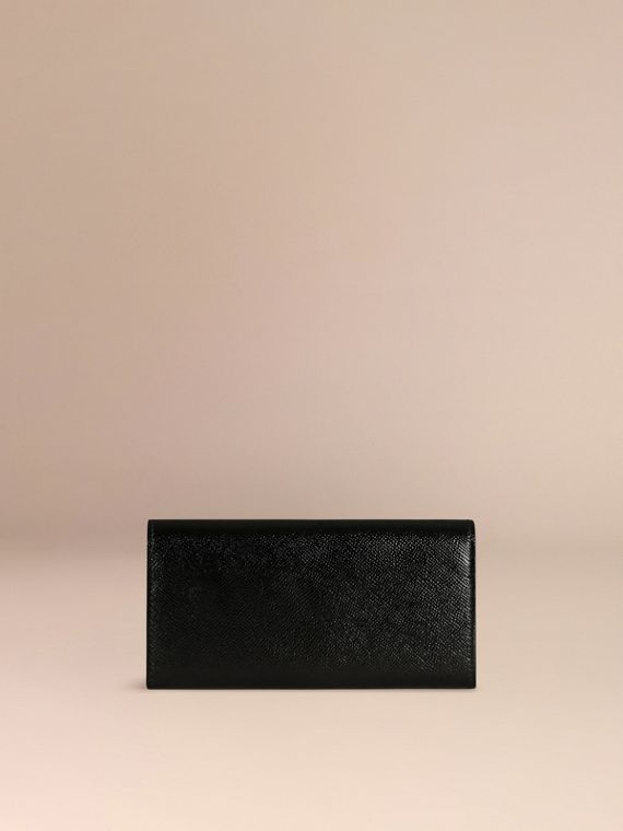 Black Patent London Leather Continental Wallet Black - cell image 3