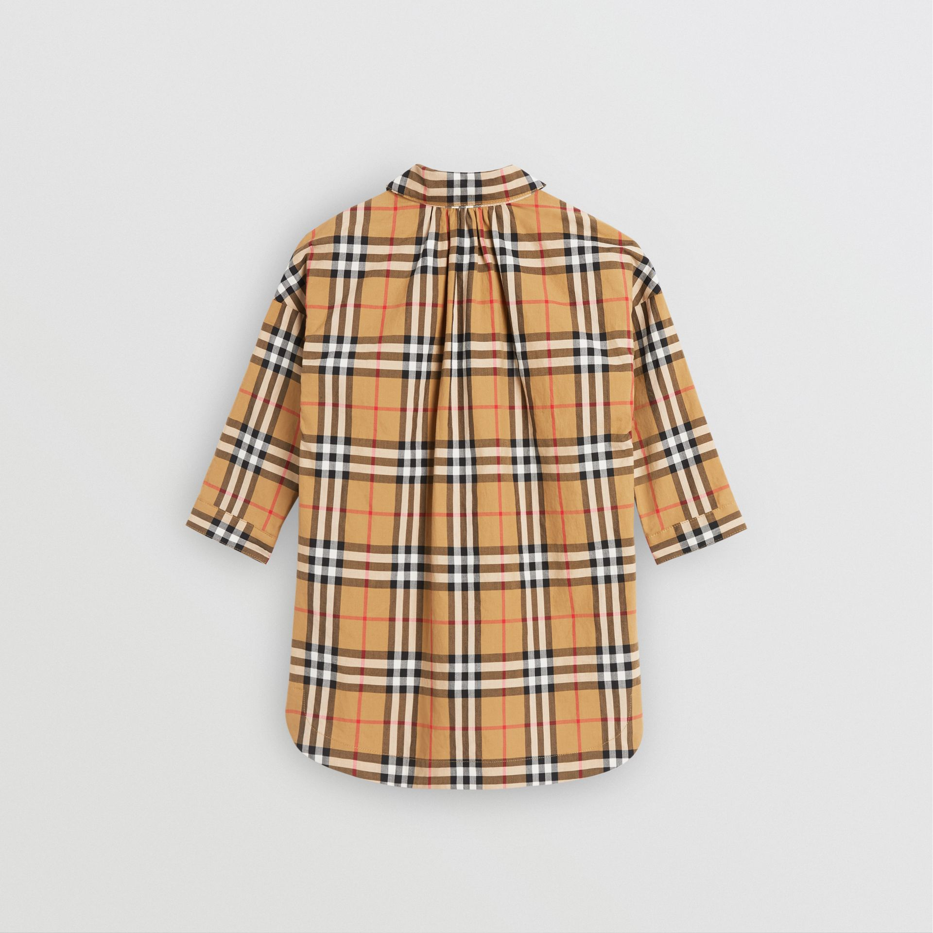Vintage Check Shirt Dress in Antique Yellow - Children | Burberry - gallery image 3