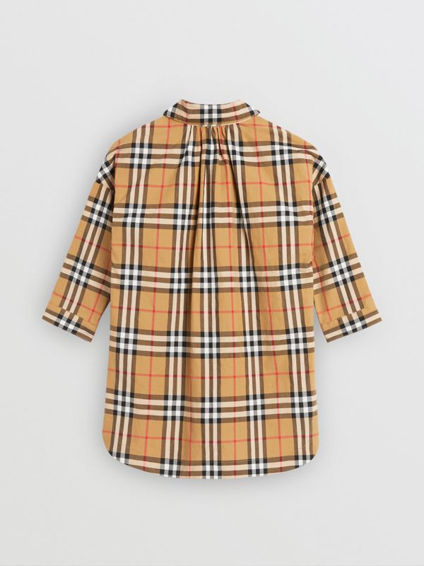 Vintage Check Shirt Dress in Antique Yellow - Children | Burberry - cell image 3