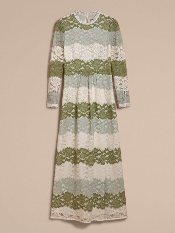 Floor-length Floral Lace Dress - cell image 3