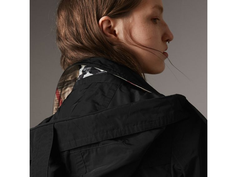 Taffeta Trench Coat with Detachable Hood in Black - Women | Burberry - cell image 1