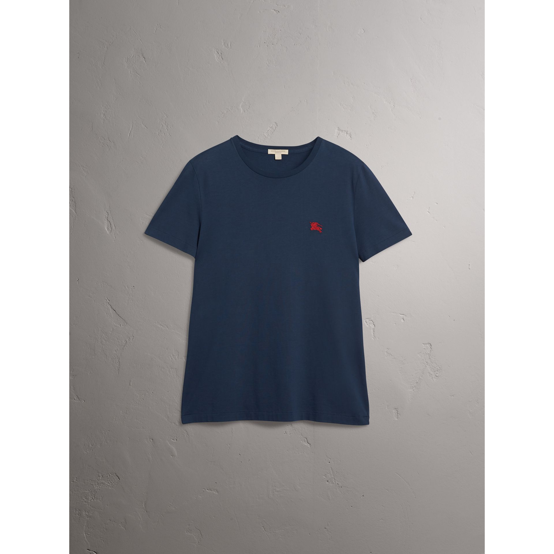 Cotton Jersey T-shirt in Navy - Men | Burberry Australia - gallery image 4