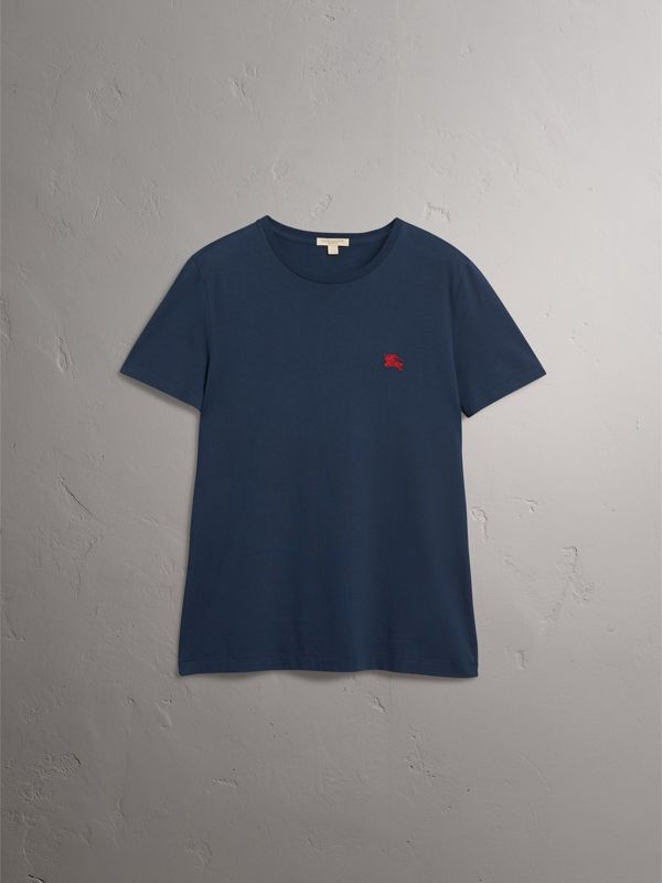 Cotton Jersey T-shirt in Navy - Men | Burberry United States - cell image 3