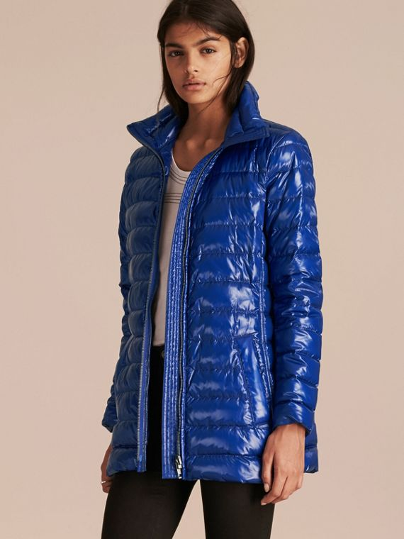 Fur-trimmed Parka with Detachable Down-filled Jacket in Ink Blue - cell image 2