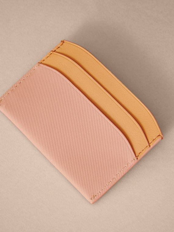 Two-tone Trench Leather Card Case in Ash Rose/pl Clemn - Women | Burberry - cell image 2