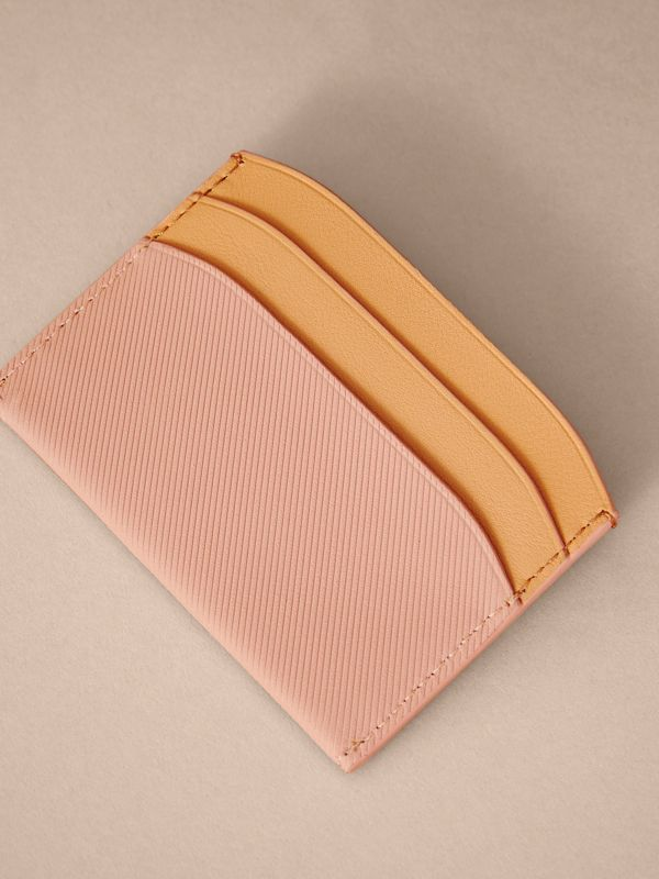 Two-tone Trench Leather Card Case in Ash Rose/pl Clemn | Burberry - cell image 2
