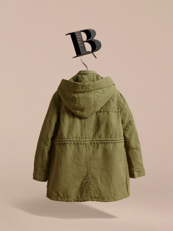 Hooded Cotton Linen Parka - cell image 3