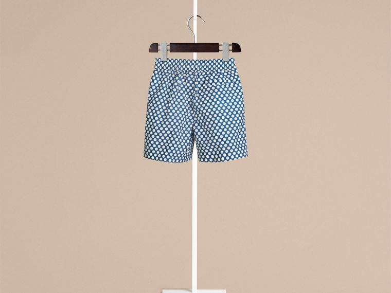 Lupin blue Polka Dot Print Swim Shorts Lupin Blue - cell image 1