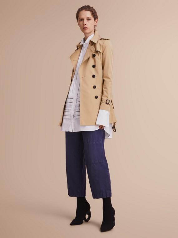 The Chelsea - Trench coat Heritage corto Miele
