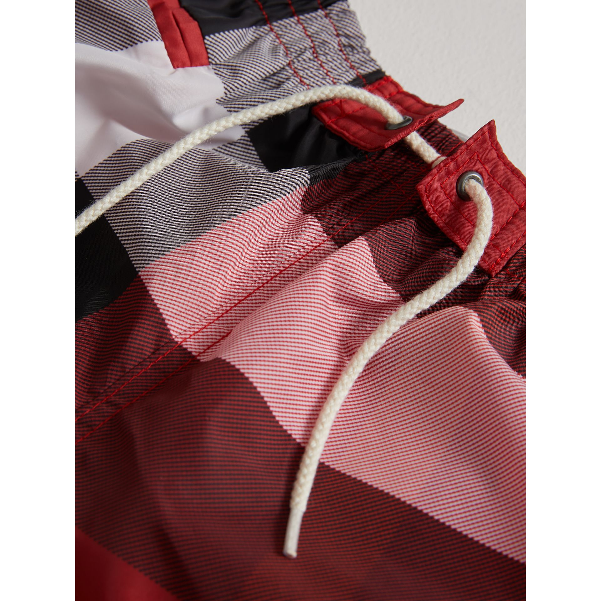 Check Swim Shorts in Parade Red | Burberry United States - gallery image 1