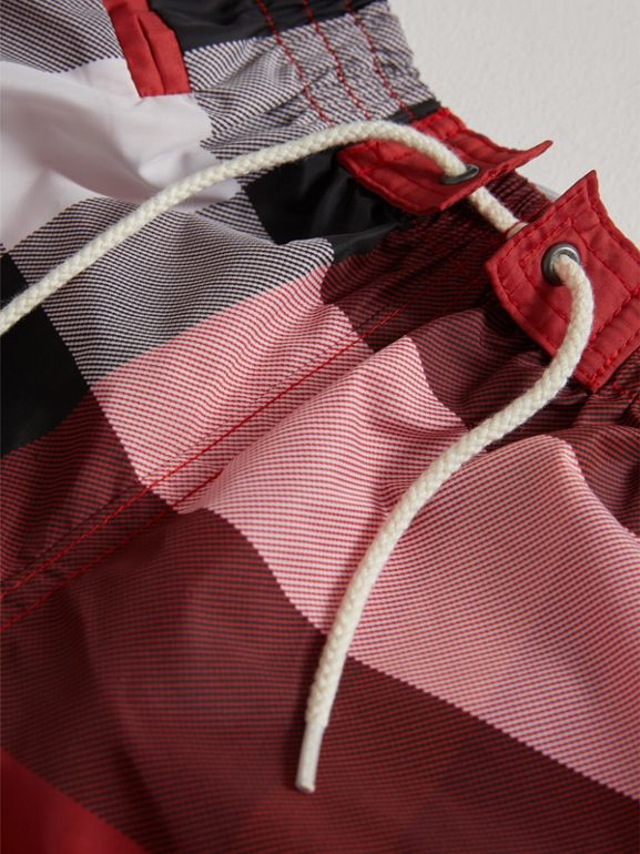 Check Swim Shorts in Parade Red | Burberry - cell image 1