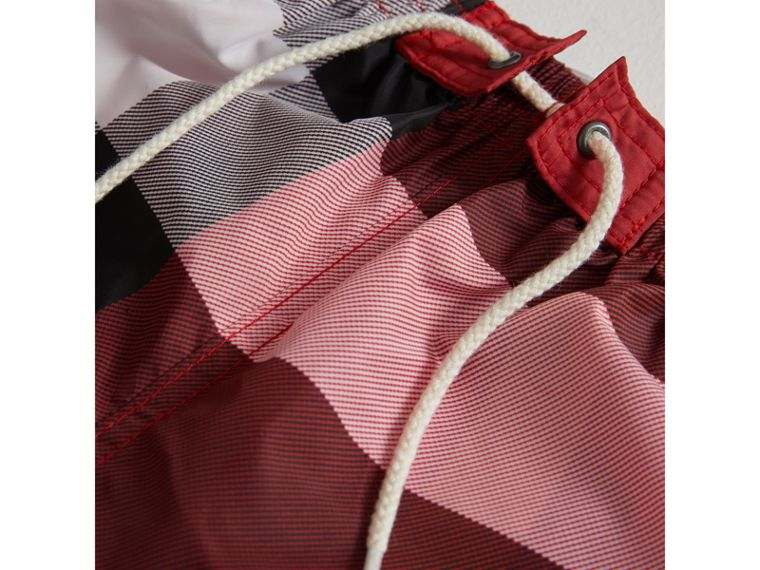 Check Swim Shorts in Parade Red | Burberry United States - cell image 1