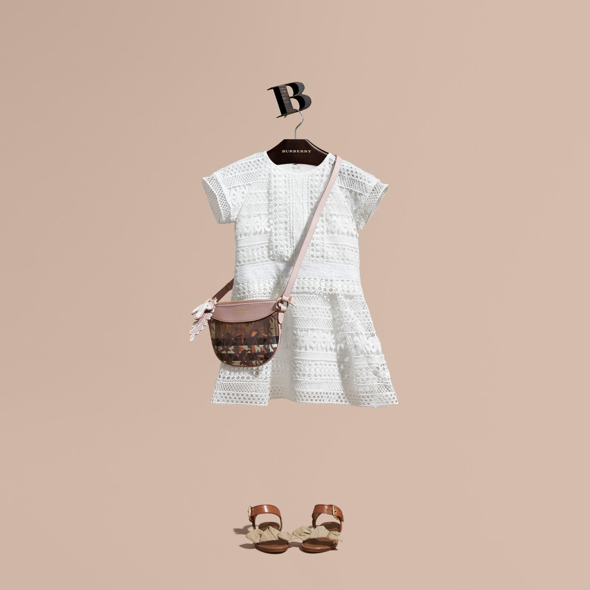 Macramé Lace Dropped-waist Dress - gallery image 1