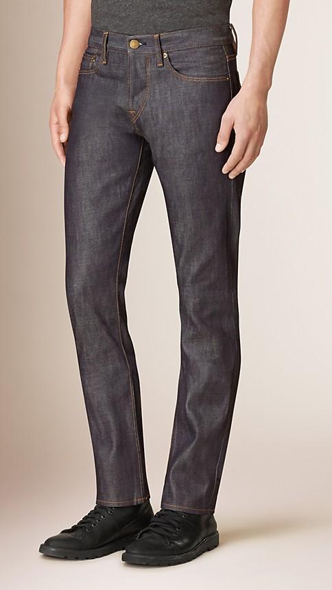 Mid indigo Straight Fit Deep Indigo Jeans - Image 1