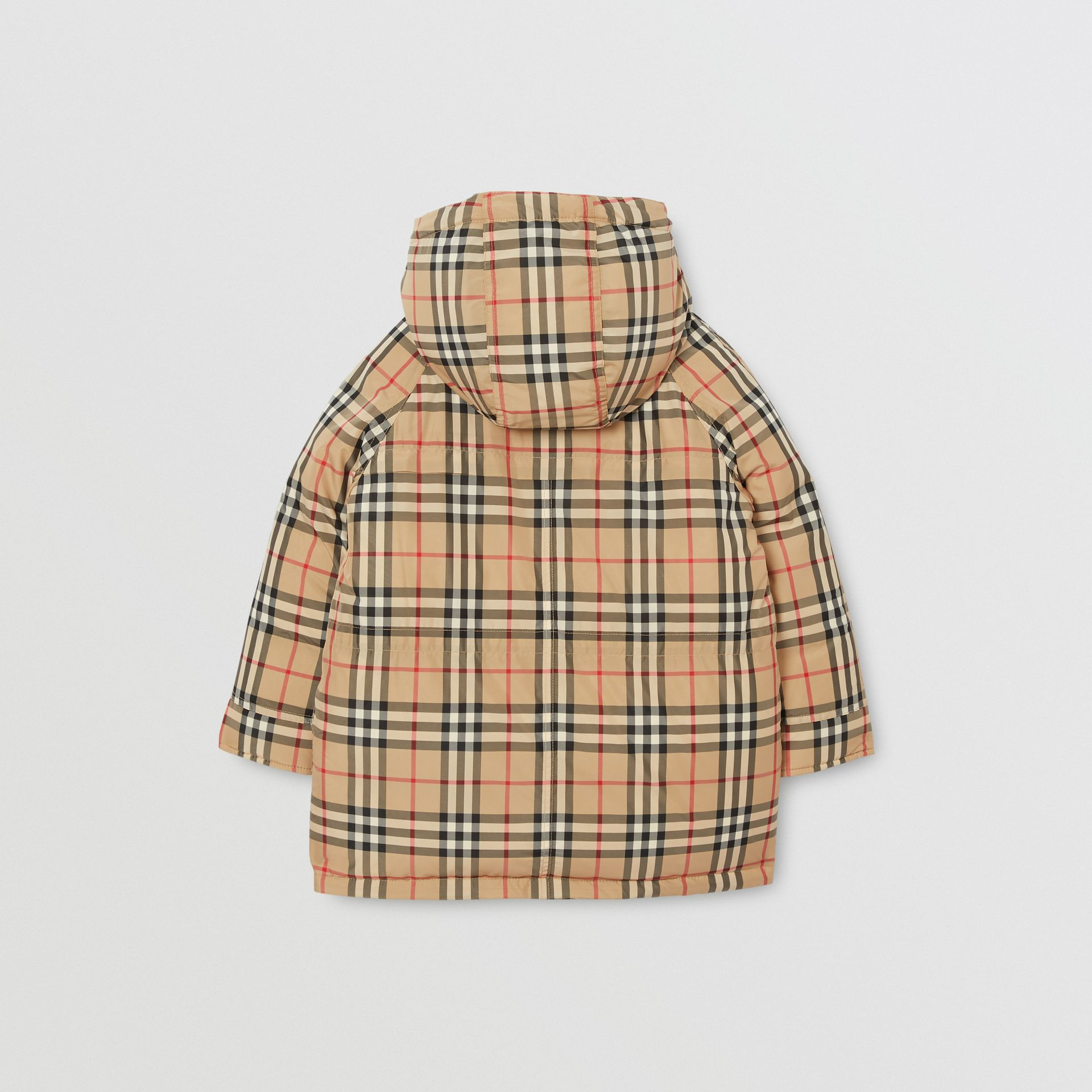 Vintage Check Down-filled Hooded Puffer Jacket in Archive Beige | Burberry Singapore - gallery image 4
