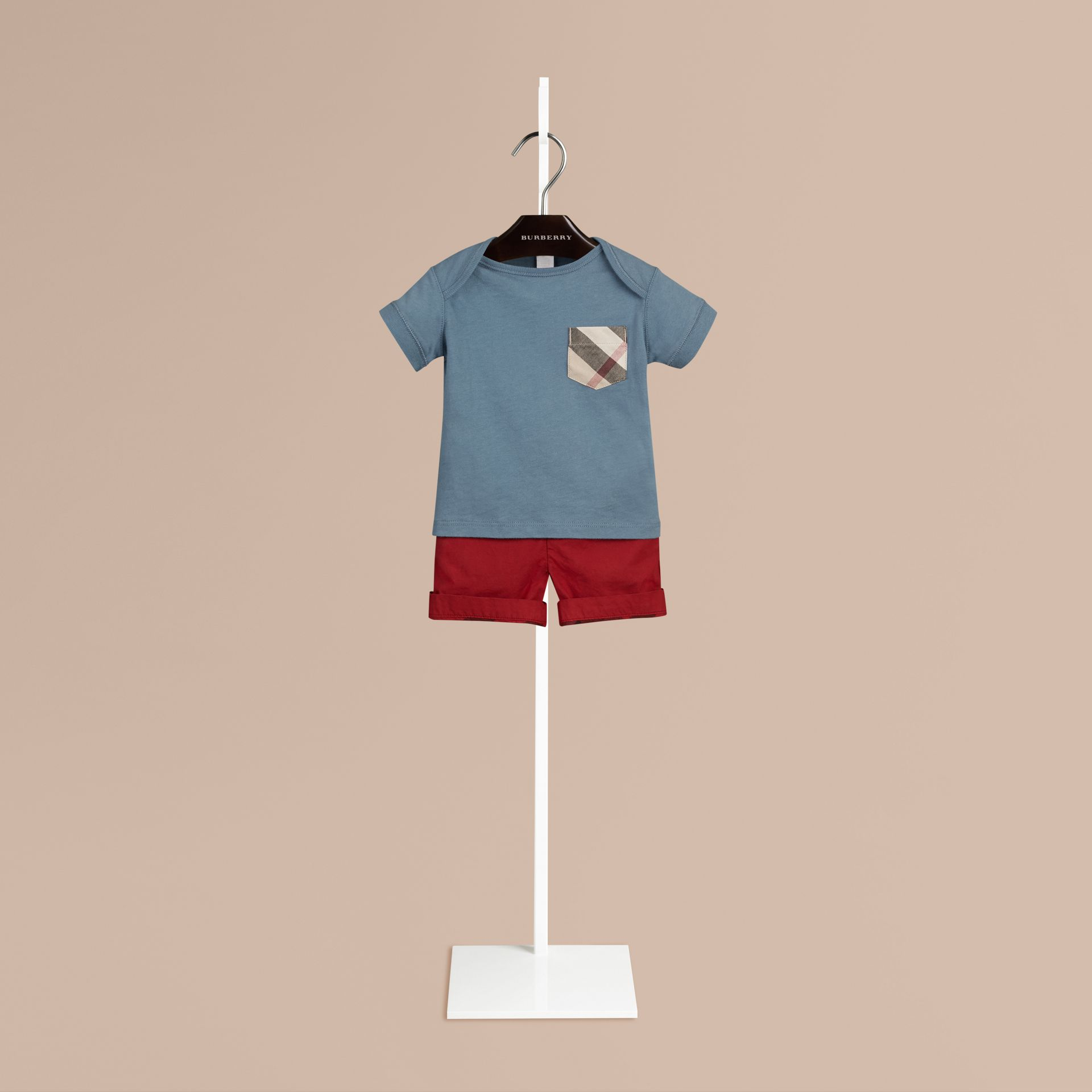 Lupin blue Check Pocket T-Shirt Lupin Blue - gallery image 1