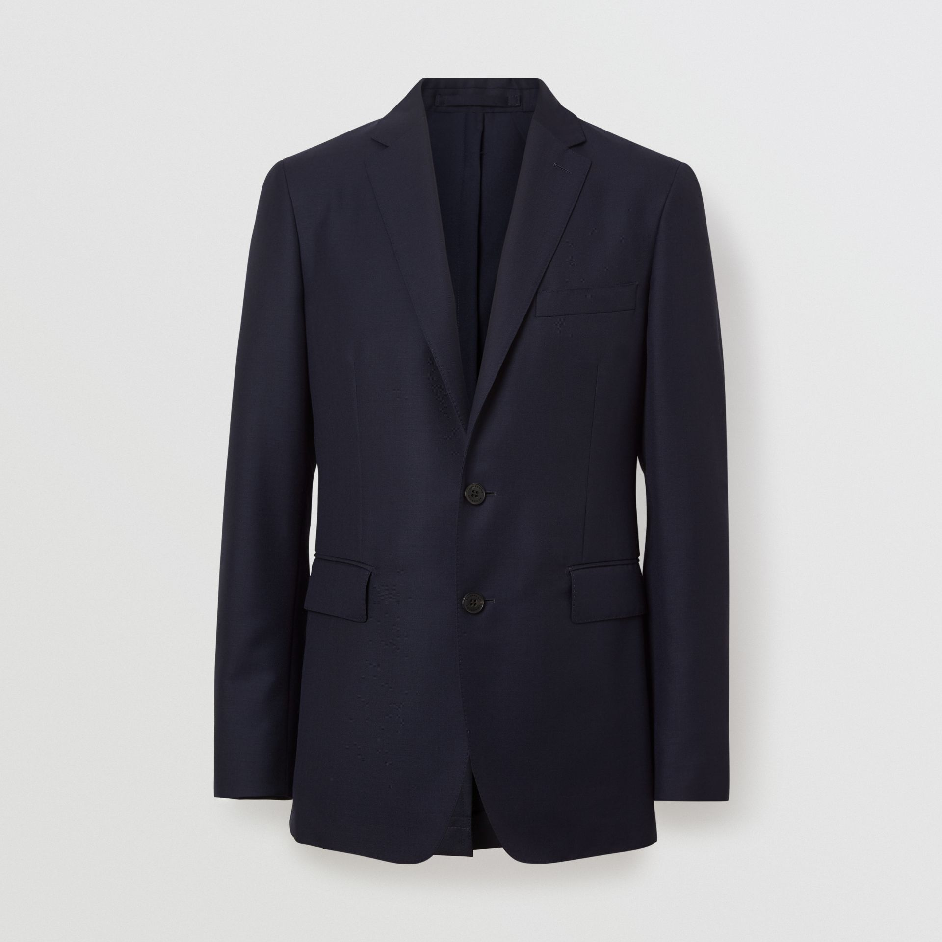 Slim Fit Wool Mohair Silk Suit in Navy - Men | Burberry United Kingdom - gallery image 3