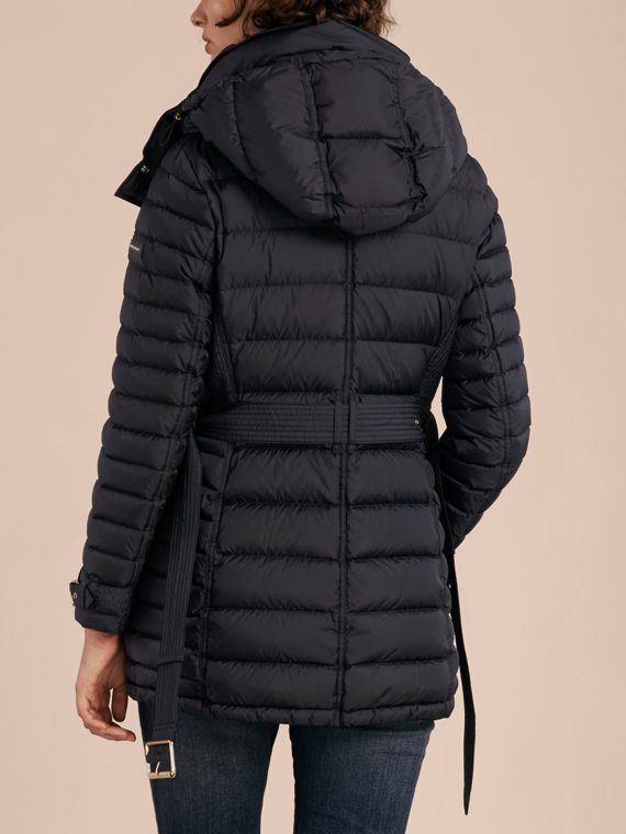 Navy Down-filled Puffer Jacket with Packaway Hood - cell image 2