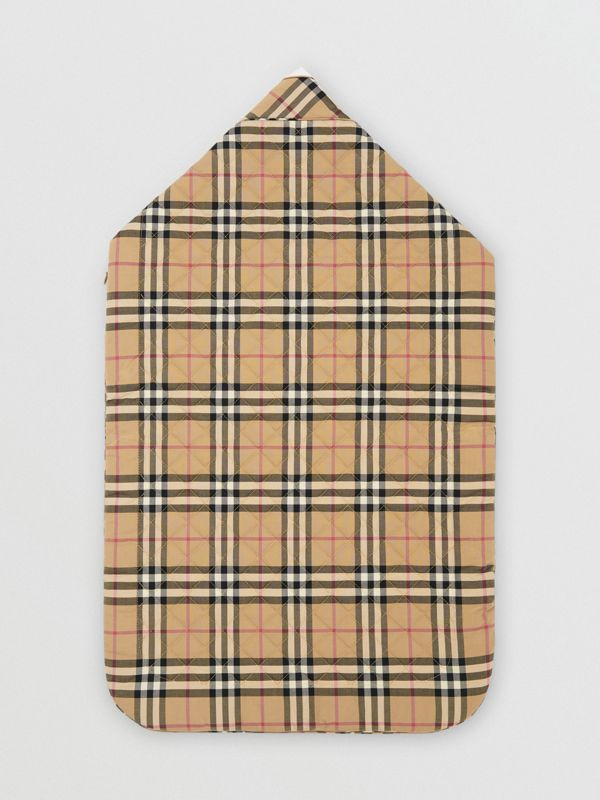 Logo Print Vintage Check Cotton Baby Nest in Archive Beige - Children | Burberry United Kingdom - cell image 3