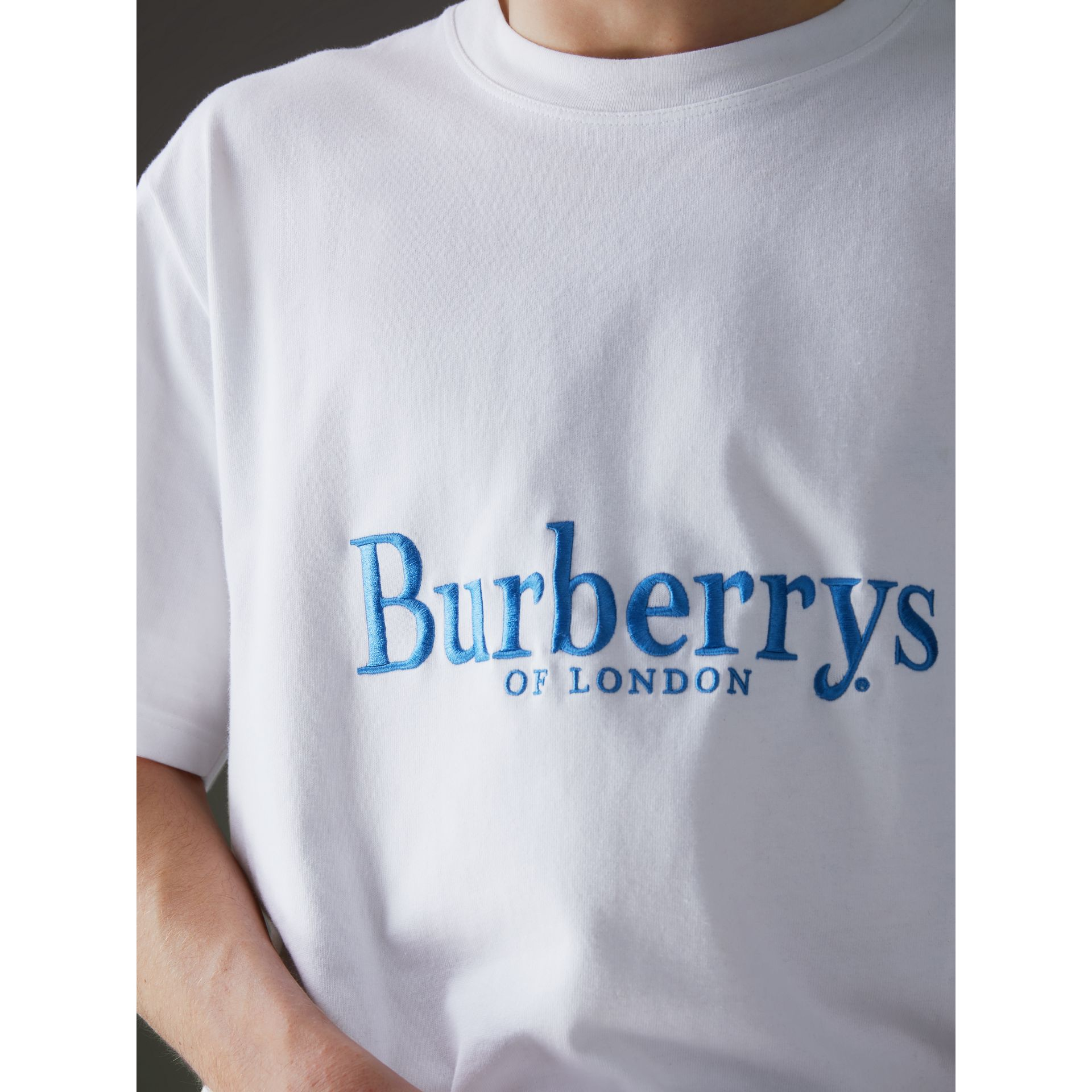 Reissued Cotton T-shirt in White - Men | Burberry United States - gallery image 1