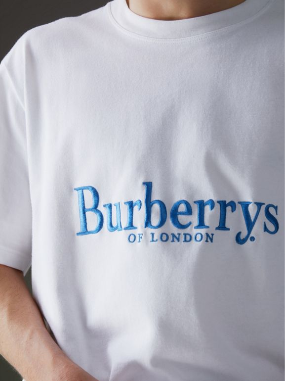Reissued Cotton T-shirt in White - Men | Burberry United States - cell image 1