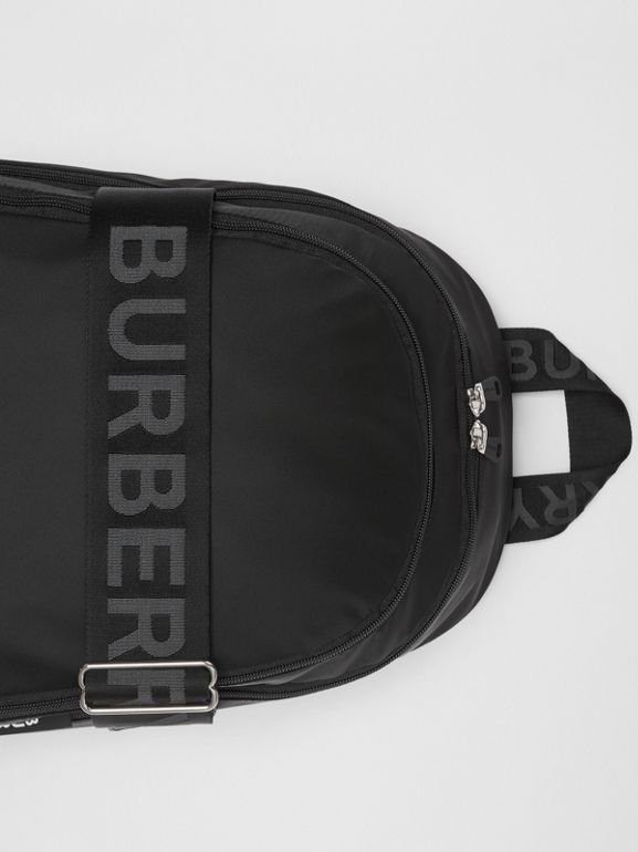 Large Logo Detail Nylon Backpack in Black - Men | Burberry Australia - cell image 1