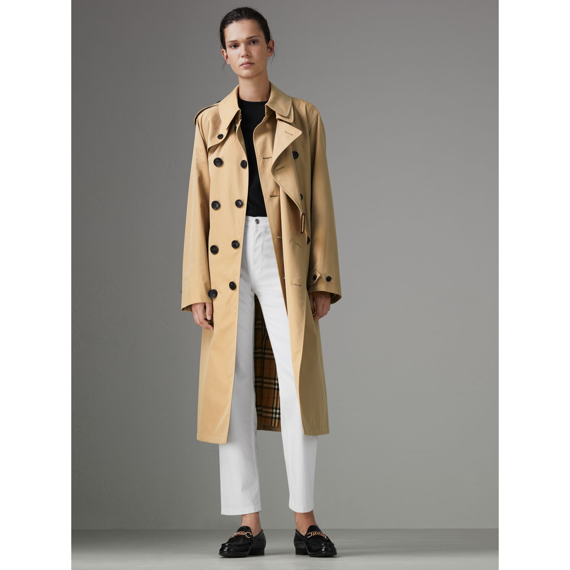 Gosha x Burberry Reconstructed Trench Coat in Honey | Burberry Singapore - gallery image 2