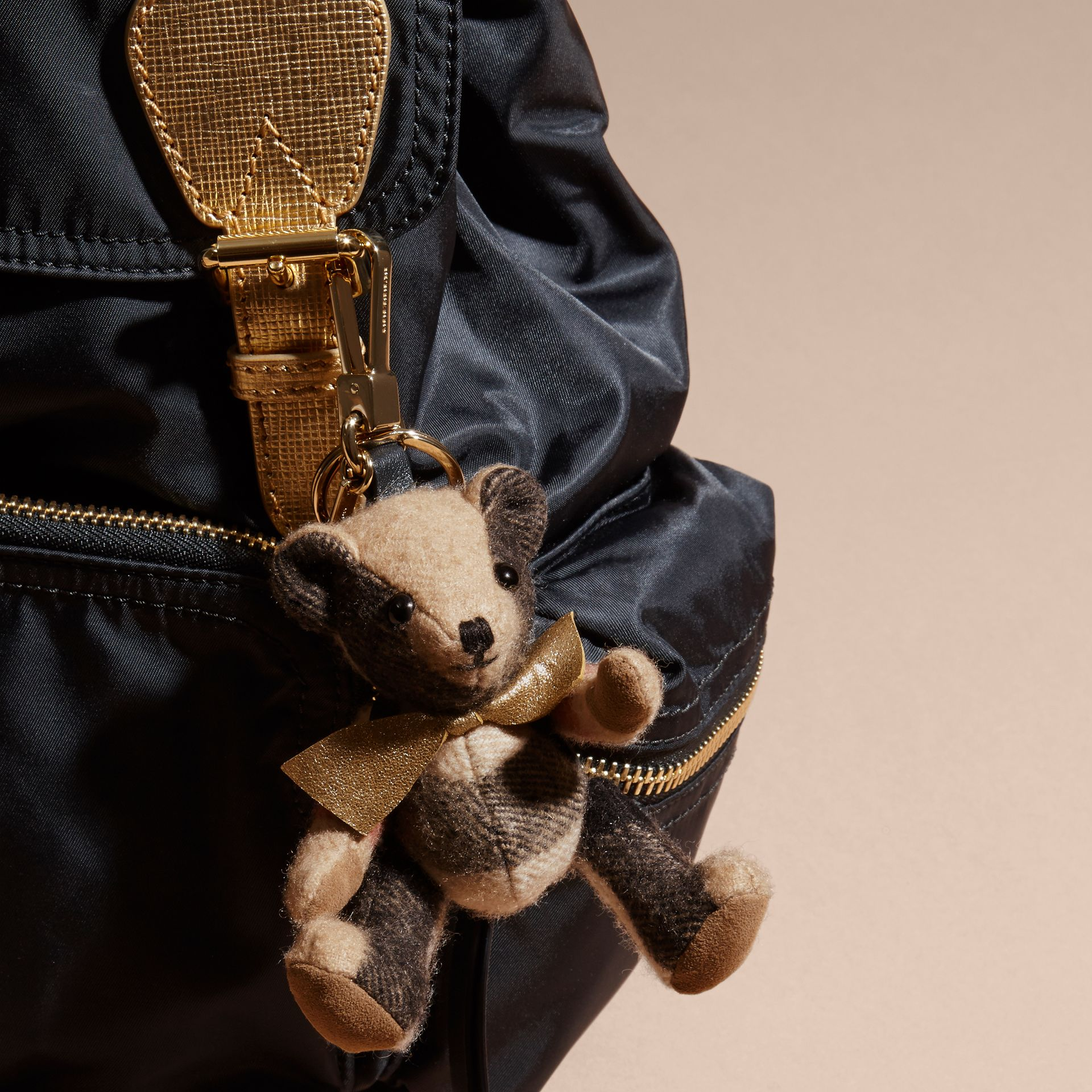 Thomas Bear Charm with Rucksack | Burberry Singapore - gallery image 3