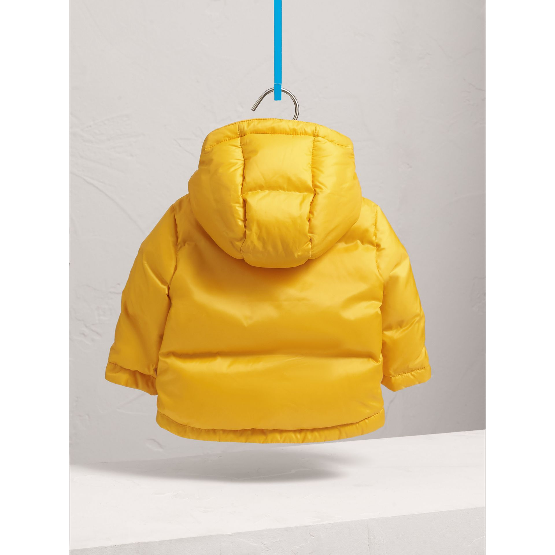 Down-filled Hooded Puffer Jacket in Larch Yellow | Burberry - gallery image 4
