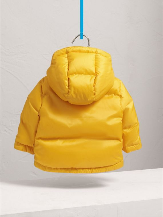 Down-filled Hooded Puffer Jacket in Larch Yellow | Burberry - cell image 3